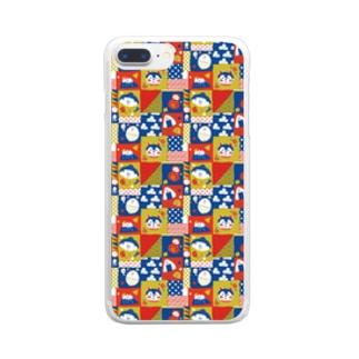 和風パターン Clear smartphone cases