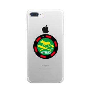 パ紋No.3365 MITSUO  Clear smartphone cases