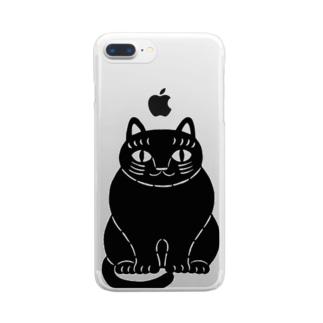 黒猫さん Clear smartphone cases