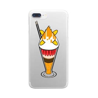 夏のどんぶり(ドンブリ) ブラザーズ【ドンブラ】のパフェ食べたい Clear smartphone cases