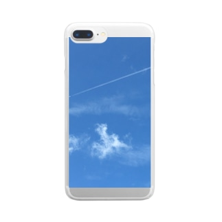 飛行機雲 Clear smartphone cases