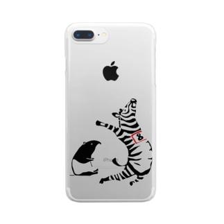 幅跳び high jump Clear smartphone cases