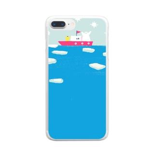 白夜の探検隊 Clear smartphone cases
