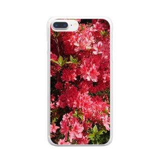 ツツジのやつ Clear smartphone cases