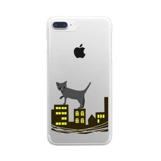 夜猫 Clear smartphone cases
