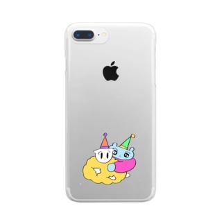 パーティに馴染めないピープル Clear smartphone cases