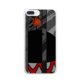 今にも爆発しそうなバクダンくん Clear smartphone cases