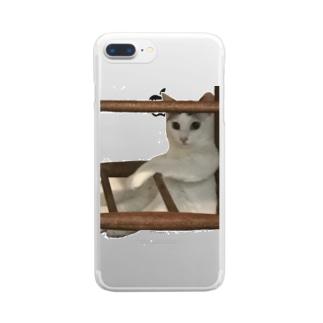 猫のリリィ Clear smartphone cases
