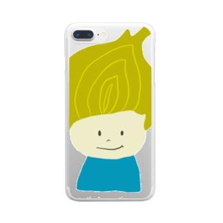 タマネギ坊や Clear smartphone cases