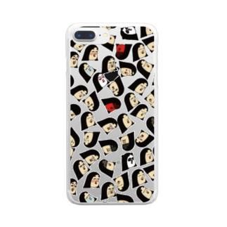 ポジティブしきぶちゃん Clear smartphone cases