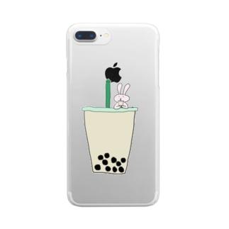 タピ飲みたい Clear smartphone cases