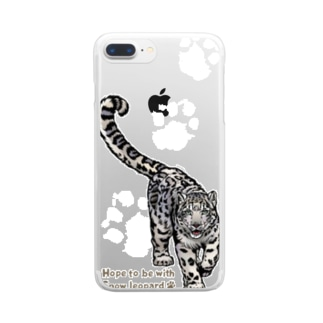 Snow leopard*ユキヒョウ クリアスマホケース パート2 Clear smartphone cases