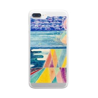 不思議な世界 Clear smartphone cases