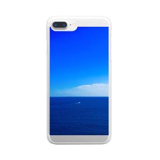 青 Clear smartphone cases
