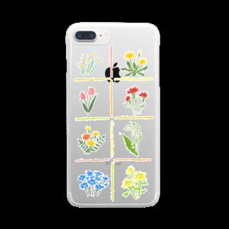 kaoruhiranoのスケルトン 春のはな Clear smartphone cases