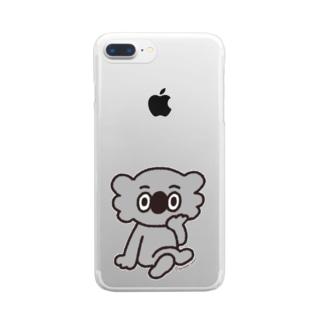 コアラさんの佇まい Clear smartphone cases