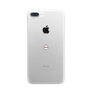 こねこグラサン Clear smartphone cases