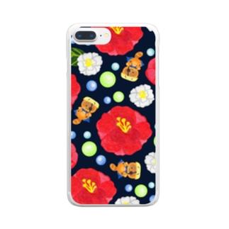 いしぽんとさざんか Clear smartphone cases