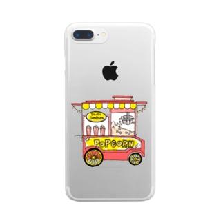 ポップコーンワゴン。 Clear smartphone cases