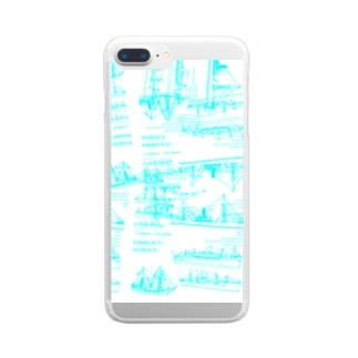 【yuruholism/holidayism】 ships pencase  クルーズ 夏 令和 帆船 船 バンクーバー カナダ Clear smartphone cases