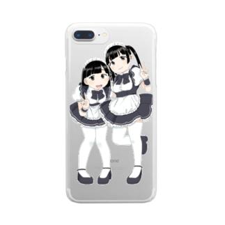 萌え〜なメイドさん Clear smartphone cases