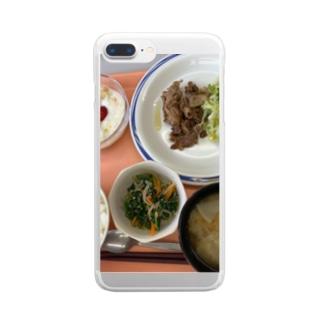 素敵な栄養士の生姜焼き Clear smartphone cases