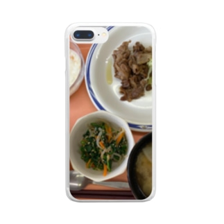生姜焼き Clear smartphone cases