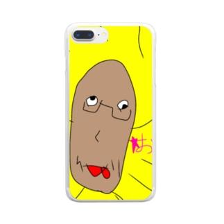 幼女作おっぷケース Clear smartphone cases
