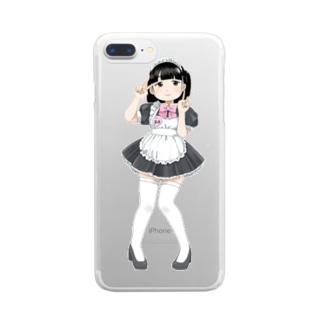 萌え〜なメイドさん② Clear smartphone cases