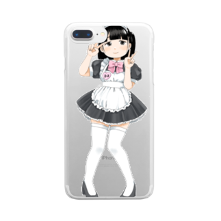 なご村🍙の萌え〜なメイドさん② Clear smartphone cases
