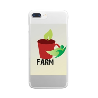 farmマンのナチュシリーズ Clear smartphone cases