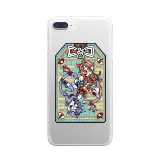 『招福猫(ショウフクビョウ)』 Clear smartphone cases