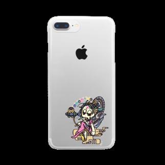 真空管✤の◇『月光菩薩さん』 Clear smartphone cases