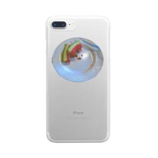 夏だ!スイカだ! Clear smartphone cases