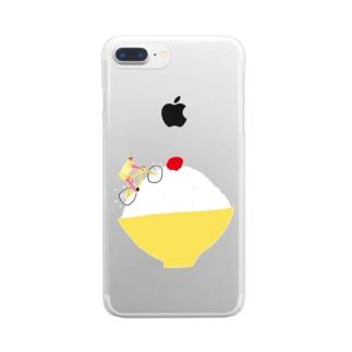 梅干しを目指すヒルクライム Clear smartphone cases