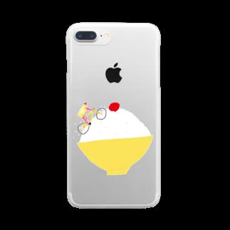 明季 aki_ishibashiの梅干しを目指すヒルクライム Clear smartphone cases