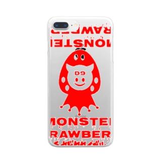 ストロベリーモンスターRED Clear smartphone cases