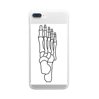 右足のほね Clear smartphone cases