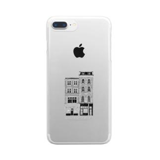 【黒線】LONDON Long Lane 55 Clear smartphone cases
