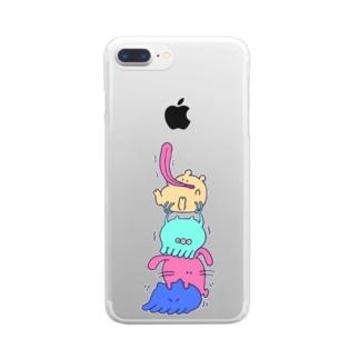 どうしてもなめてみたい Clear smartphone cases