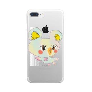 ちゅっちゅちゃん Clear smartphone cases