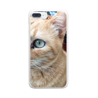 きーちゃんは言いたいことがある Clear smartphone cases