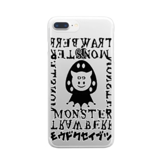 ストロベリー・モンスターBK Clear smartphone cases
