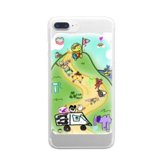 トリプルハートと仲間たち Clear smartphone cases