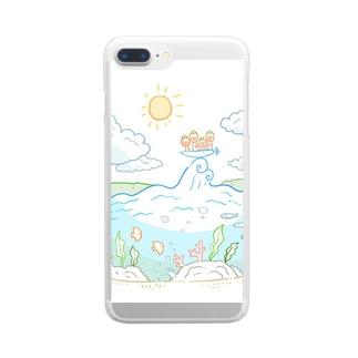 いちまる一家「旅に出る」 Clear smartphone cases