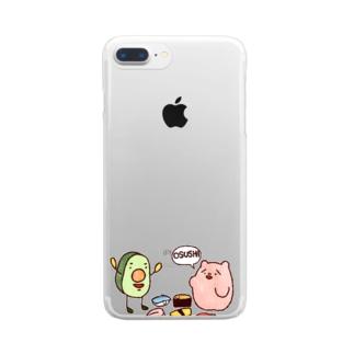 野生のOSUSHI Clear smartphone cases