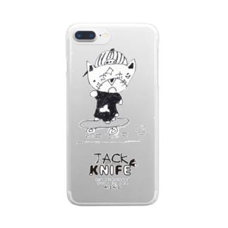 スケボージャックナイフ Clear smartphone cases