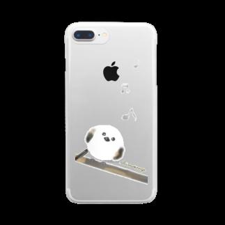 ちくわぶやさんのうたうシマエナガ Clear smartphone cases