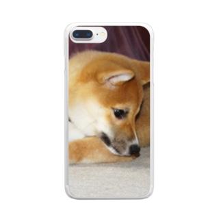 日本の犬:柴犬 Japanese dog: Shiba inu Clear smartphone cases