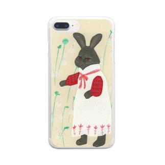 うさぎとウサギゴケ Clear smartphone cases